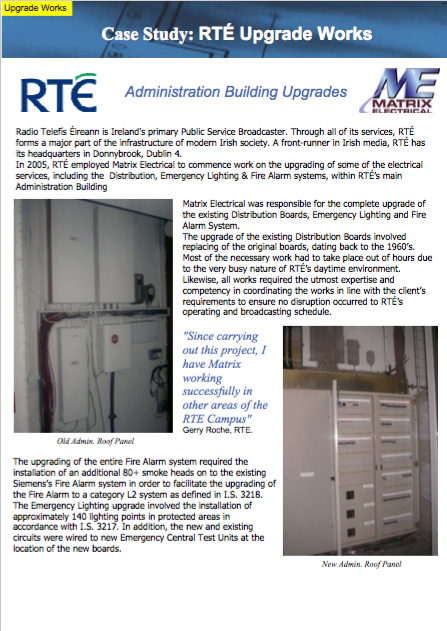 Matrix Refurbishment Project - RTÉ Admin Building Montrose