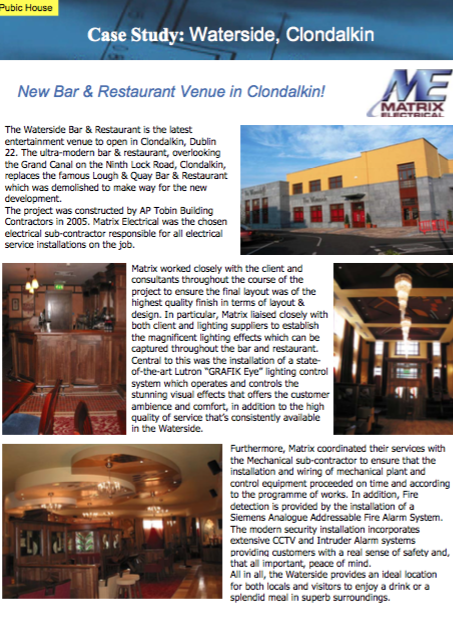 Matrix Fitout Project - Waterside Public House